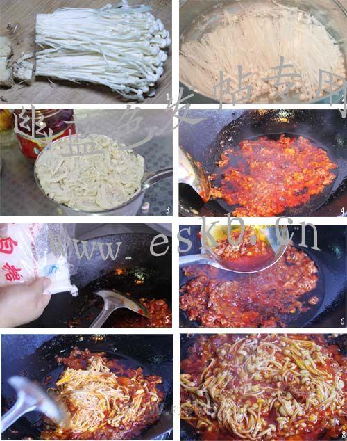 红油金针菇做法步骤