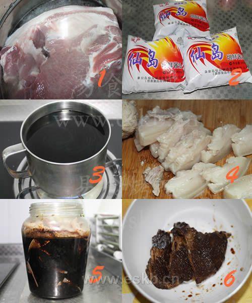 酱油腌肉的做法