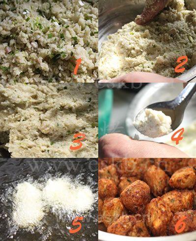 炸绿豆面丸子的做法步骤